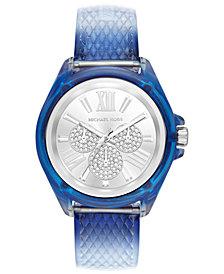 Michael Kors Women's Wren Ombré Blue Polyurethane Strap Watch 42mm