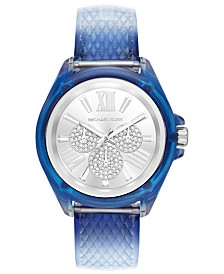 Michael Kors Women's Wren Ombré Blue Polyurethane Strap Watch 42mm