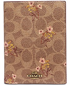 COACH Prairie Signature Passport Case