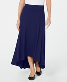 JM Collection High-Low A-Line Skirt, Created for Macy's