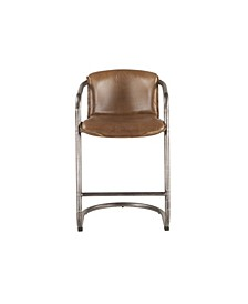 Chiavari Distressed Leather Counter Chairs, Set of 2