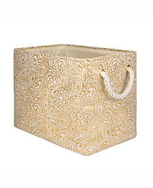 Design Import Storage Bin Paisley, Rectangle
