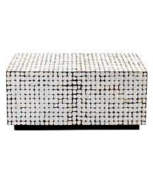 East At Main's Dellwood Coconut Shell Inlay Coffee Table