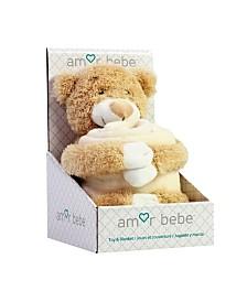 Toddler Plush Bear with Blanket