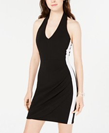Almost Famous Juniors' Halter Wrap Dress