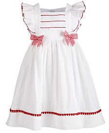 Bonnie Jean Little Girls Eyelet Pinafore Dress