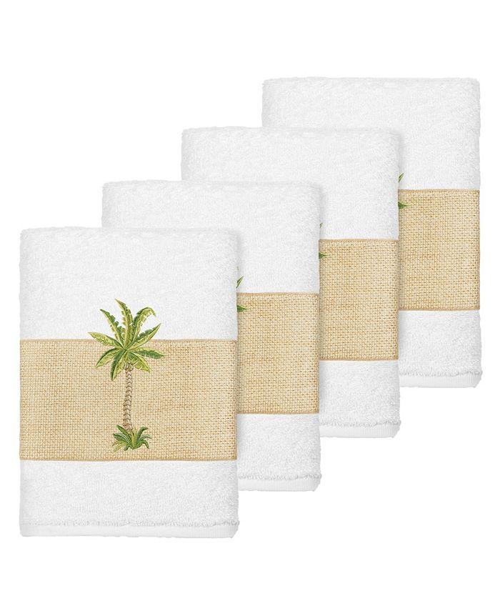 Linum Home - Turkish Cotton Colton 4-Pc. Embellished Washcloth Set