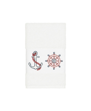 Linum Home Towels TURKISH COTTON EASTON EMBELLISHED HAND TOWEL BEDDING