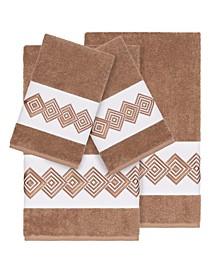 Turkish Cotton Noah 4-Pc. Embellished Towel Set