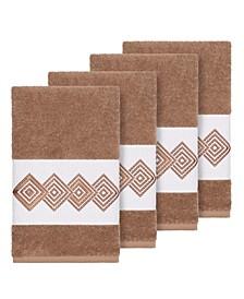 Turkish Cotton Noah 4-Pc. Embellished Hand Towel Set