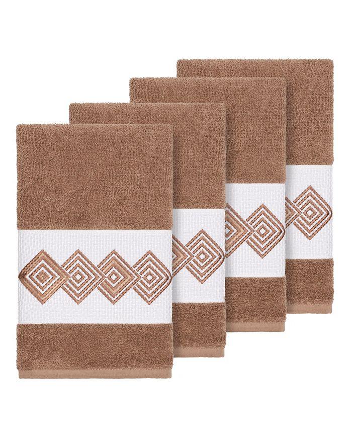 Linum Home - Turkish Cotton Noah 4-Pc. Embellished Hand Towel Set