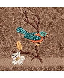 Linum Home Turkish Cotton Springtime Embellished Washcloth
