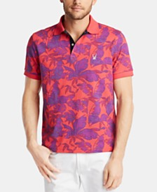 Nautica Blue Sail Men's Classic Fit Printed Island Polo, Created for Macy's