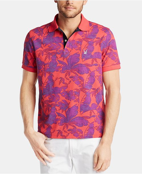 Nautica Men's Classic Fit Printed Island Polo, Created for Macy's