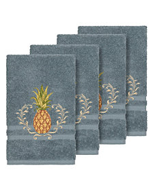 Linum Home Turkish Cotton Welcome 4-Pc. Embellished Hand Towel Set