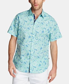 Nautica Men's Short-Sleeve Oxford Shirt