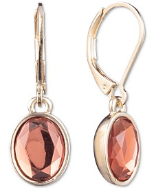 Anne Klein Stone Oval Drop Earrings