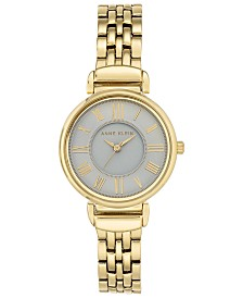 Anne Klein Women's Gold-Tone Bracelet Watch 30mm