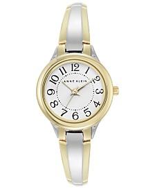 Anne Klein Women's Two-Tone Bangle Bracelet Watch 28mm