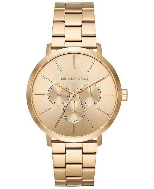 Michael Kors Men's Blake Gold-Tone Stainless Steel Bracelet Watch 42mm