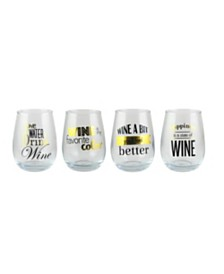 Jay Imports Stemless Goblets - Set of 4