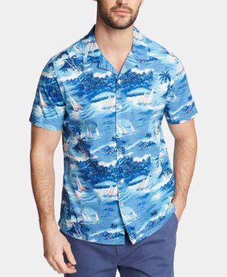 nautica mens casual button down shirts \u0026 sports shirts macy\u0027snautica men\u0027s big and tall blue sail printed camp shirt, created for macy\u0027s