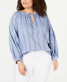 Tommy Hilfiger Plus Size Cotton Sycamore Top