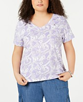 f185135fb Tommy Hilfiger Plus Size Cotton V-Neck T-Shirt, Created for Macy's