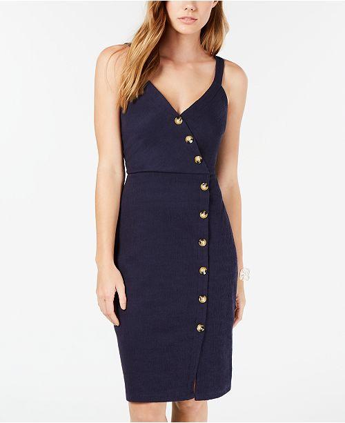BCX Juniors' Button-Trimmed Midi Dress