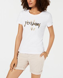Tommy Hilfiger Metallic Logo Top, Created for Macy's