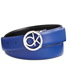 Calvin Klein Retro Logo Reversible Leather Belt