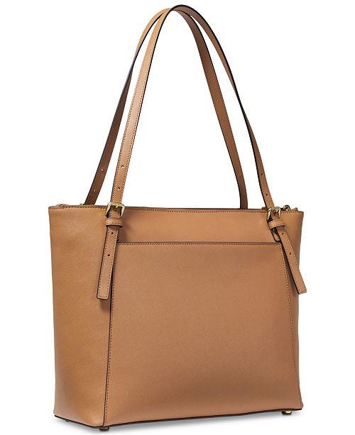 e0530125ec4d34 Michael Kors Voyager East West Leather Tote & Reviews - Handbags ...