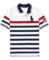 5989eeb60 Polo Ralph Lauren Big Boys Striped Cotton Mesh Polo Shirt