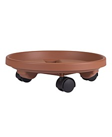 """Rolling 14"""" Plant Stand with Caddie Saucer"""