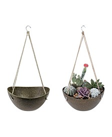Eco Modern Hanging Basket Planter Bowl Pot