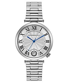 Ladies Round Stainless Steel Bracelet with T Bar Attachment Watch, 38mm