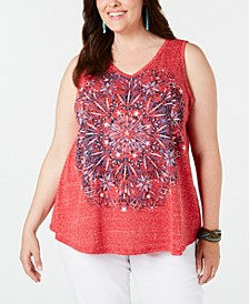 Plus Size Graphic Tank Top, Created for Macy's