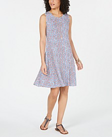 Petite Printed Swing Dress, Created for Macy's