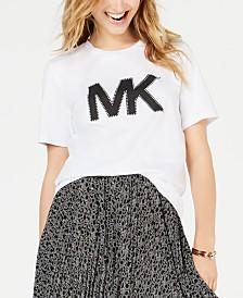 MICHAEL Michael Kors Cotton Studded Logo T-Shirt