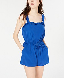 Juniors' Ruffle-Detail Romper