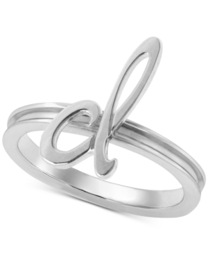 Autograph Letter Ring in Sterling Silver