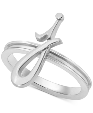 Image of Alex Woo Autograph Letter Ring in Sterling Silver