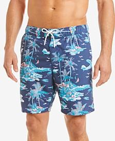 "Men's Palm-Tree Graphic 8"" Swim Trunks"