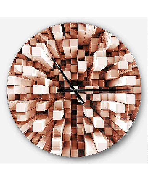 Design Art Designart Oversized Modern Round Metal Wall Clock