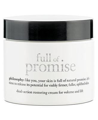 philosophy full of promise dual-action restoring cream, 2 oz