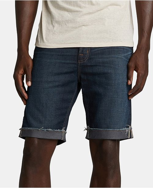 Silver Jeans Co. Men's Allan Classic-Fit Comfort Stretch Denim Shorts