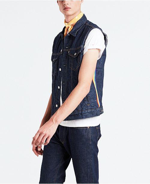 Levi's Pride Collection Rainbow Stripe Denim Vest