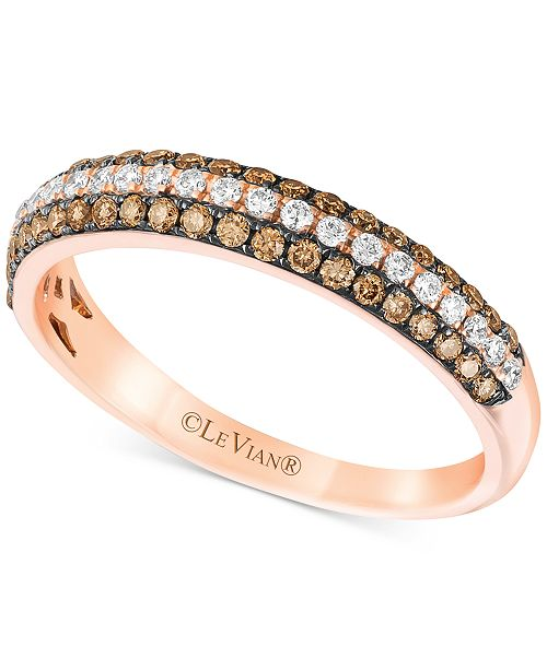 Le Vian Chocolatier® Diamond Band (3/8 ct. t.w.) in 14k Rose Gold