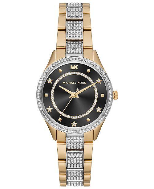 Michael Kors Women's Mini Lauryn Two-Tone Stainless Steel Bracelet Watch 33mm