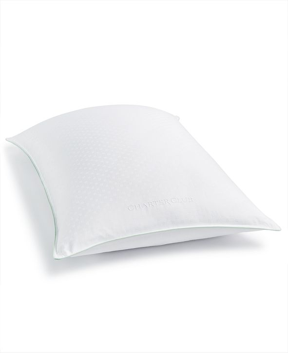 Charter Club 50% European Feather & 50% European Down Medium/Firm Density Standard/Queen Pillow, Hypoallergenic UltraClean Down, Created for Macy's